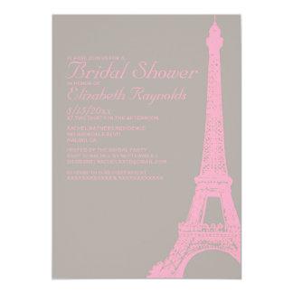 Eleganta Eiffel torninbjudningskort för möhippan 12,7 X 17,8 Cm Inbjudningskort