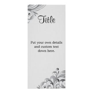 """Eleganta grå färg virvlar runt 4"""" X 9"""" bröllop Reklamkort"""