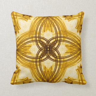 Eleganta guld- damastast dekorativ kudde