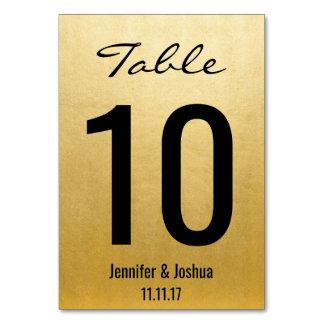 Eleganta guld- gifta sig bordsnummerkortmallar bordsnummer
