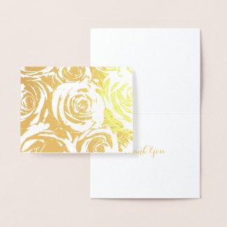 Eleganta guld- ro folierat kort
