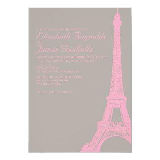 Eleganta inbjudningar för Eiffel tornbröllop