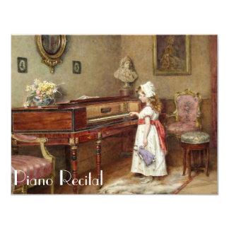 Eleganta inbjudningar för vintagepianohögläsning