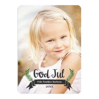 Eleganta Jul Fotokort 12,7 X 17,8 Cm Inbjudningskort