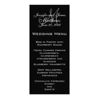 Eleganta kort för Monogrambröllopmeny Ställkort