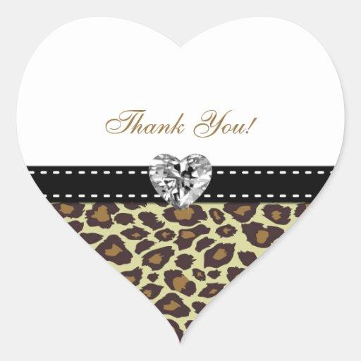 Eleganta Leopardtackklistermärkear med diamanten Hjärtformade Klistermärken