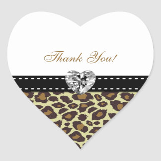 Eleganta Leopardtackklistermärkear med diamanten Hjärtformat Klistermärke