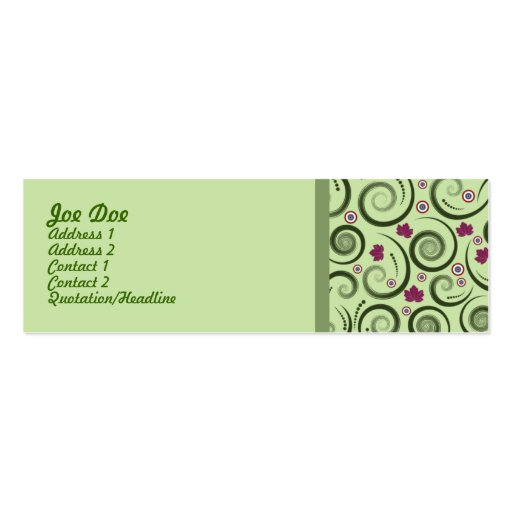 Eleganta magra Businesscard Visitkort