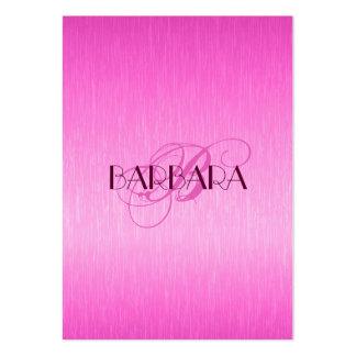 Eleganta metalliska shock rosa borstad Aluminum Lo Set Av Breda Visitkort