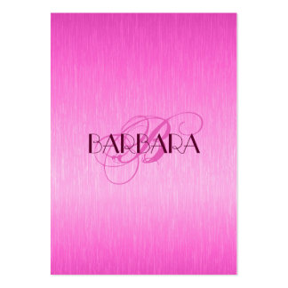 Eleganta metalliska shock rosa borstad Aluminum Lo Visit Kort
