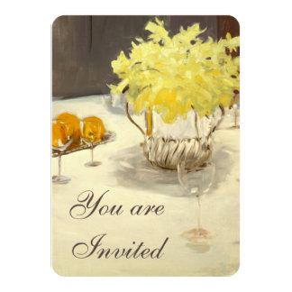 Eleganta påskliljarepetition middaginbjudningar 11,4 x 15,9 cm inbjudningskort