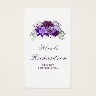 Eleganta plommon och violett lila blommor som är visitkort