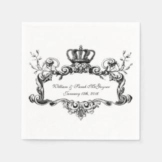 Eleganta Regal brölloppappersservetter Servetter