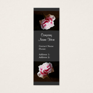 Eleganta rosa nejlikablommavisitkortar litet visitkort