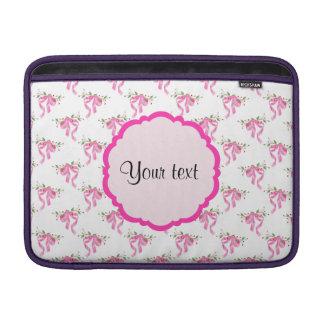 Eleganta rosa romantikerpilbågar sleeve för MacBook air