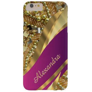 Eleganta rosor för personlig och guld- bling barely there iPhone 6 plus skal