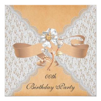 Eleganta snörefödelsedagsfest inbjudan