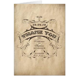 Eleganta vintage brölloptackkort OBS kort