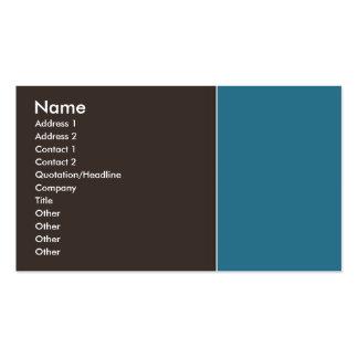 Elegantbrunt och blått set av standard visitkort
