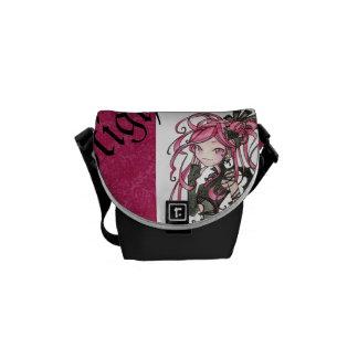 Eleganten för batcave för lolita för fladdermössfl kurir väska