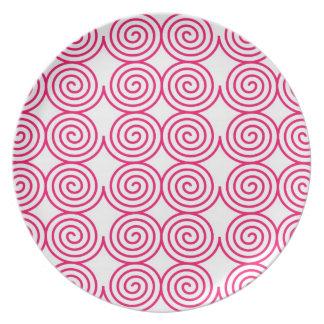 Eleganten för design för spiralringkonst rundar de tallrik