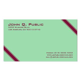 Eleganten görar randig visitkorten visitkort