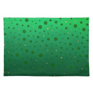 Eleganten pricker - grönt guld - st patrick's day bordstablett