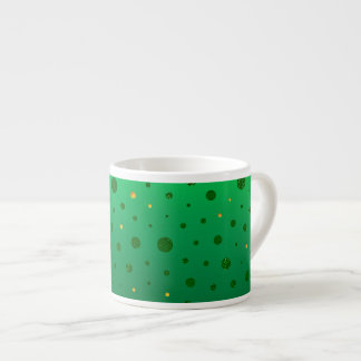 Eleganten pricker - grönt guld - st patrick's day espressomugg