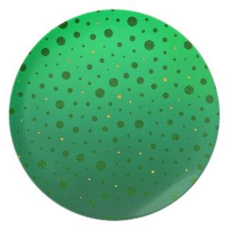 Eleganten pricker - grönt guld - st patrick's day tallrik