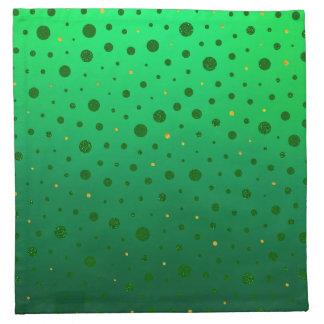 Eleganten pricker - grönt guld - st patrick's day tygservett
