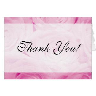 Eleganten tackar dig att card för rosa ros för OBS kort