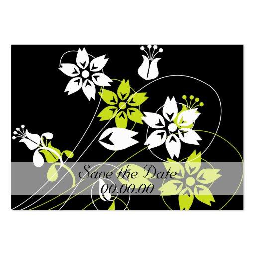 Eleganten virvlar runt och blommar visit kort