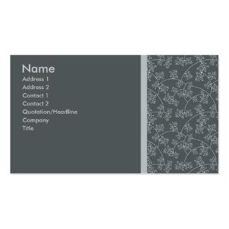 Elegantgrått Set Av Standard Visitkort