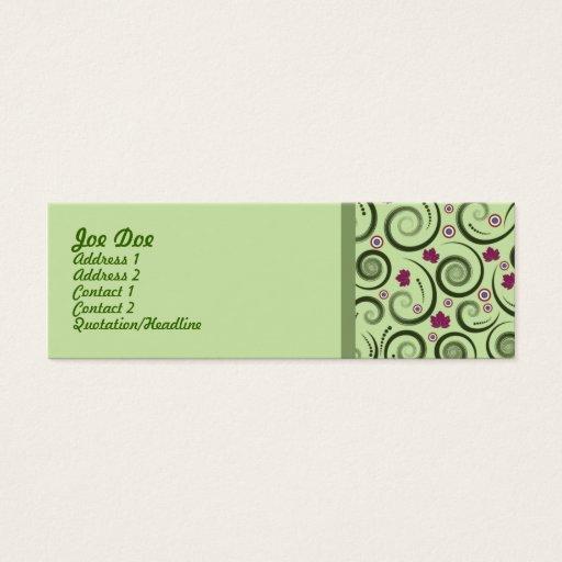 Elegantgrönt Litet Visitkort
