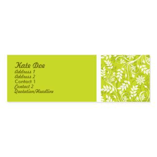 Elegantgrönt Set Av Smala Visitkort