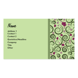 Elegantgrönt Set Av Standard Visitkort
