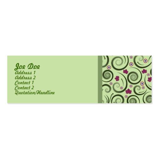 Elegantgrönt Visitkort