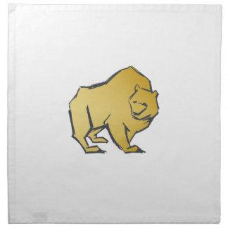 Elegantly lyxig guld- björn tygservett