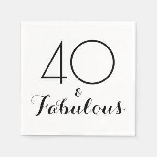 Elegantsvart 40 och sagolika partyservetter pappersservett