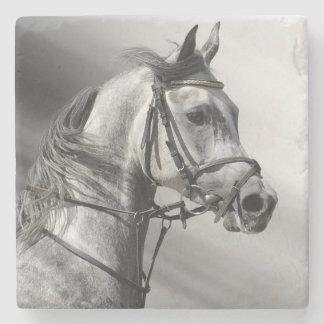 Elegantt arabiskt hästhuvud underlägg sten