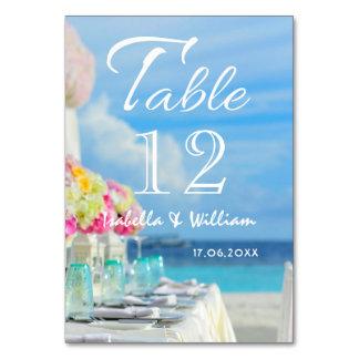 Elegantt blom- bord för bröllop för bordsnummer