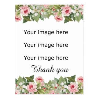 Elegantt blom- bröllop tackar dig vykortet vykort