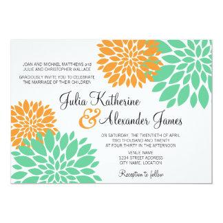 Elegantt bröllop för mint- och 12,7 x 17,8 cm inbjudningskort