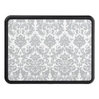 Elegantt damastast mönster för grått och för vit dragkroksskydd