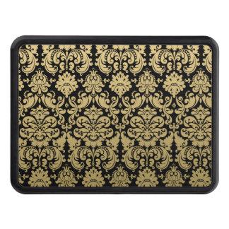 Elegantt damastast mönster för guld och för svart skydd för dragkrok
