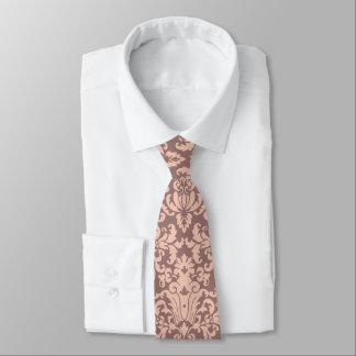 Elegantt damastast mönster för rosor och för Mauve Slips