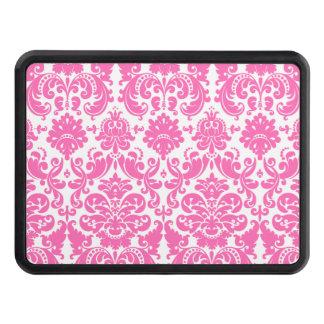 Elegantt damastast mönster för shock rosa och för skydd för dragkrok