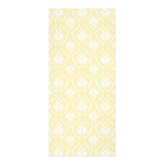 Elegantt damastast mönster. Ljus guld- färg Reklamkort