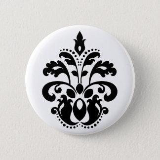 Elegantt damastast motiv standard knapp rund 5.7 cm