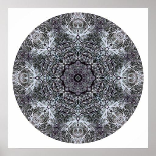 Elegantt dekorativt rundamönster. Anpassningsbar Print